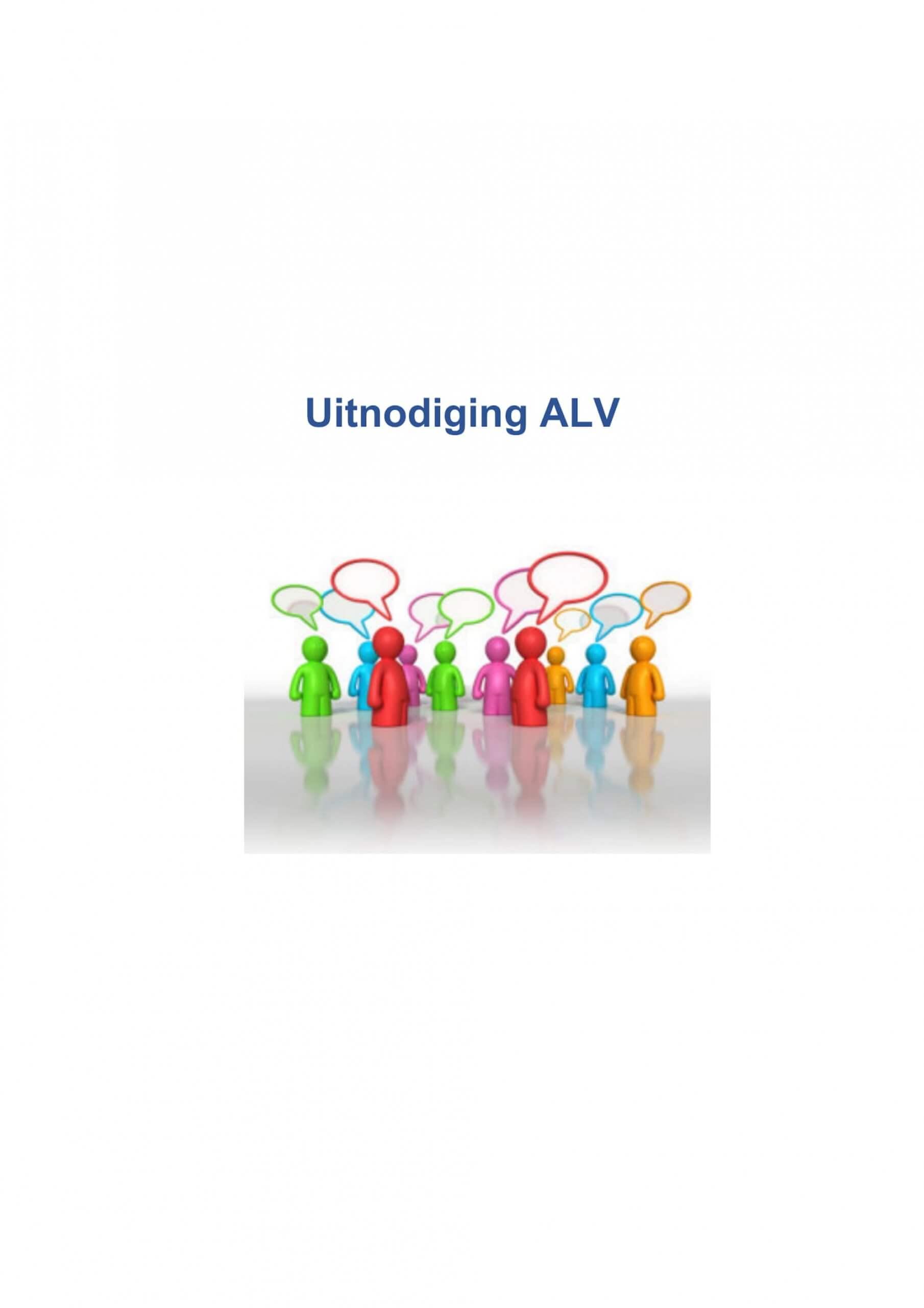 Uitnodiging ALV